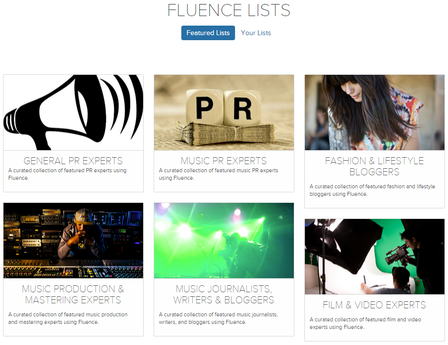 Featured Fluence lists